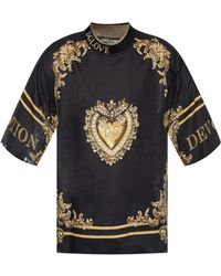 Dolce & Gabbana - Oversized Printed T-shirt - Lyst