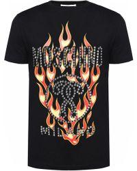 Moschino - Studded T-shirt - Lyst