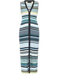 Diesel Black Gold - Striped Dress - Lyst
