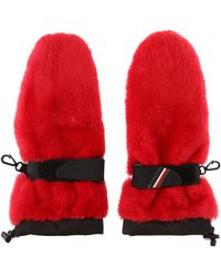 Moncler Grenoble - Gloves With Coypu Fur - Lyst