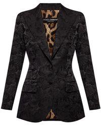 Dolce & Gabbana Blazer With Peak Lapels - Black