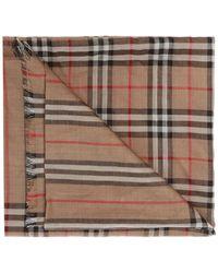 Burberry Stripe Scarf - Natural