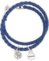 DIESEL | Double Braided Bracelet | Lyst