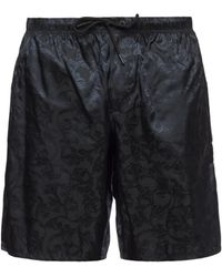 Versace - Swimming Shorts With Baroque Motif - Lyst