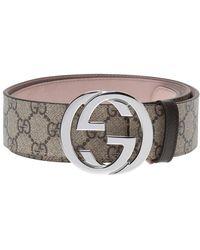 Gucci - 'GG Supreme' Canvas Belt - Lyst