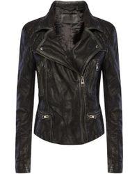 AllSaints - 'cargo' Leather Jacket - Lyst