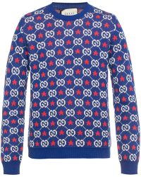 61bae3f8 Men's Gucci Crew neck jumpers Online Sale - Lyst