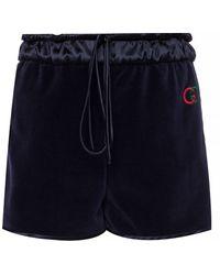 Gucci Velvet Shorts - Blue