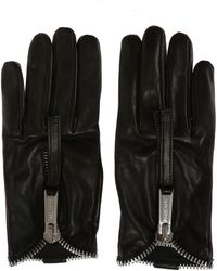 DSquared² - Leather Gloves With Zipper - Lyst