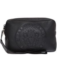 Balmain Branded Wash Bag - Black