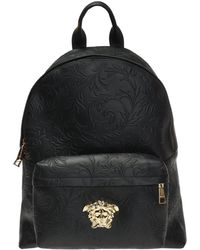 a5a017c188c4 Gucci Tiger-head Embossed Backpack in Black for Men - Lyst