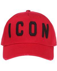 17c2edbe885c66 DSquared² Logo Cap in Red for Men - Lyst
