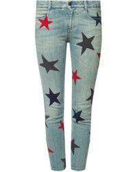 Stella McCartney - 'grazer Multicolour Star' Skinny Jeans - Lyst