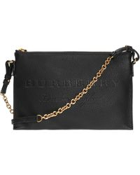 Burberry - Logo-embossed Shoulder Bag - Lyst