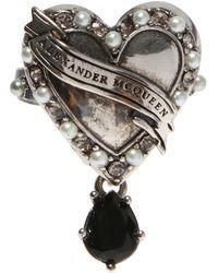 Alexander McQueen - Swarovski Crystals-encrusted Ring - Lyst