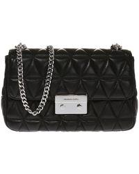 597959d142ad Lyst - Michael Kors Sloan Large Quilted-leather Shoulder Bag in Black