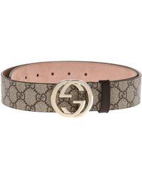 f92bfb78593 Gucci -  GG Supreme  Canvas Belt - Lyst