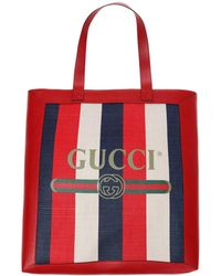 d8545b3a940 Lyst - Gucci  webby  Bee Embroidery Web Leather Crossbody Bag in Red