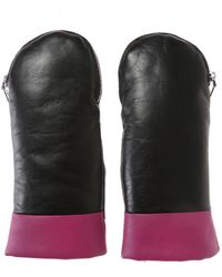 KENZO - Leather Gloves - Lyst