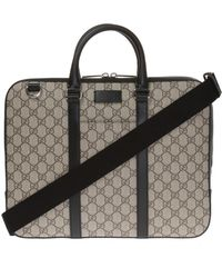 Gucci - Logo-embossed Briefcase - Lyst