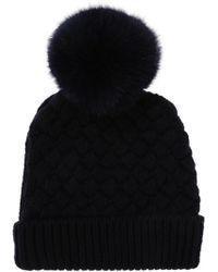 Ferragamo - Fur Pompom Hat - Lyst
