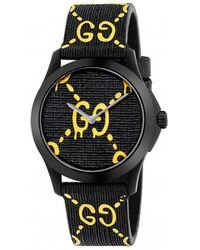 Gucci - Gg Rubber Strap Watch - Lyst