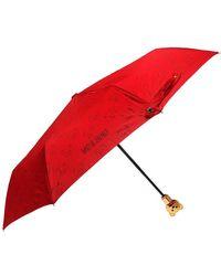 Moschino - Branded Folding Umbrella - Lyst