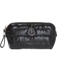 Moncler - Quilted Wash Bag With Logo - Lyst
