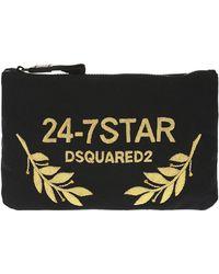 DSquared² - Appliqued Wash Bag - Lyst