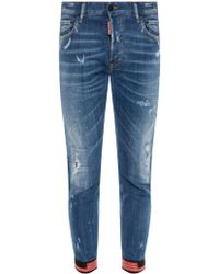 DSquared² - Patched Jeans - Lyst