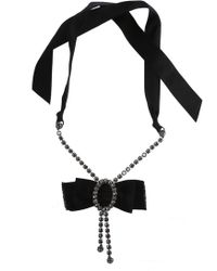 Lanvin - Silk Bow Necklace - Lyst