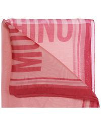 51c2cabaaa Moschino Cheap and Chic - Olive Oil Silk Square Scarf - Lyst