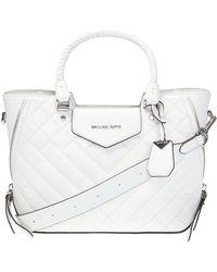 Michael Kors 'blakely' Quilted Shoulder Bag - White