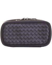 69c48ef6497f Lyst - Bottega Veneta Intrecciato Leather Watch Roll in Black for Men
