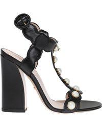 Gucci   'willow' Heel Sandals   Lyst
