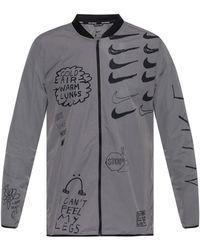 6842113ce076 Nike - Graffiti Print Sport Jacket - Lyst