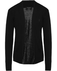 AllSaints - 'mode' Logo-embroidered Cardigan - Lyst