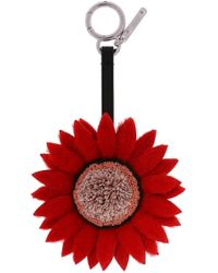Fendi - Flower-shaped Key Ring - Lyst