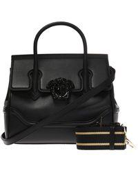 Versace 'palazzo Empire' Shoulder Bag With A Medusa Head - Black
