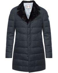 Moncler Gamme Bleu - Fur Collar Down Coat - Lyst
