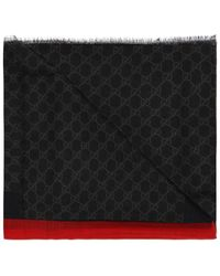 Gucci - 'GG Web' Patterned Scarf - Lyst