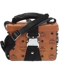 777ee0a4c MCM - Jemison Visetos Small Crossbody Bag In Cognac Coated Canvas - Lyst
