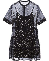AllSaints - 'picolina' Embroidered Dress - Lyst