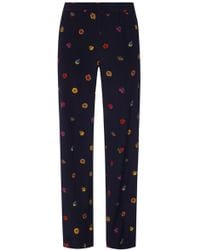 Paul Smith - Floral Motif Trousers - Lyst