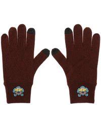KENZO - Tiger's Head Motif Gloves - Lyst