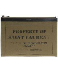 Saint Laurent - Army Medium Tablet Case - Lyst