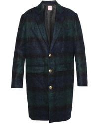 Palm Angels - Checked Coat - Lyst