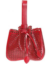 Alaïa - Perforated Shoulder Bag - Lyst