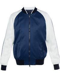 Versace - Satin Bomber Jacket - Lyst