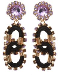 DSquared² - Embellished Clip-on Earrings - Lyst